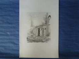 Lithographie Signée François Joly - 1980 - La Vieille Porte En Bois - 60 X 40 CM - Lithographies