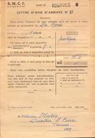 S.N.C.F.,Var, Tourves Gare, Lettre D Avis D Arrivee, 1965   (bon Etat) - Transportation Tickets