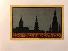 Allemagne Notgeld Tarnowitz 25 Pfennig - [ 3] 1918-1933 : Weimar Republic