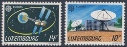 """Luxemburg Luxembourg 1991 Mi 1271 /2 YT 1221 /2 ** Satellite """"Astra 1A, 1B"""" + Earth Station, Betzdorf / Fernmelde - Space"""