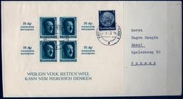 1937 , ALEMANIA , FREIBURG - BASILEA , HOJA BLOQUE YV. 7 , HITLER - Alemania