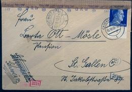1943 , ALEMANIA , CHEMNITZ - ST. GALLEN , CORREO CENSURADO - Cartas