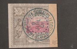 Cote Des Somalis N° 13a  Moitie De 30 Centimes Sur Fragment TTb Oblitération Lisible - Gebruikt