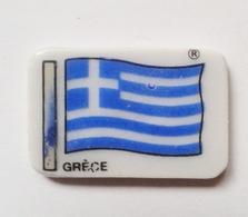 Fève Perso Publicitaire Clamecy Drapeau De La Gréce - Countries