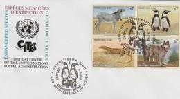 ONU  VIENNE 1993  Faune   N°  159 / 62 Oblitéré Sur Lettre 1° Jour - Centre International De Vienne