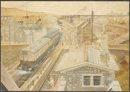 Gwyn Briwnant Jones - Sain Ffagan, C.1980s - Cerdyn Post - Stations With Trains