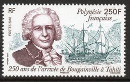 Polynésie Française 2018 - 250 Ans De L'arrivée De Bougainville à Tahiti - 1 Val Neufs // Mnh - Polynésie Française