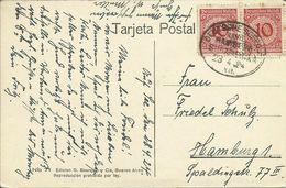 PC / AK Argentinien Buenos Aires Plaza Lavalle Dt. Seepost Hamburg-Amerika 1924 #01 - Argentinien