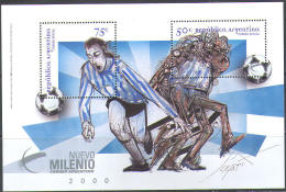 3223 ✅ Art Painting Soccer Football Millenium 1999 Argentina S/s MNH ** - Soccer