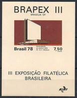 Brasilien 1978  MiNr. 1657 (Block 39)  **/ Mnh  ; BRAPEX  III. - Brazil