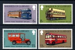 GUERNSEY - 1979 PUBLIC TRANSPORT SET (4V) FINE MNH ** SG 203-206 - Busses