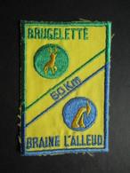 ECUSSON TISSUS (M1808) BRUGELETTE BRAINE L'ALLEUD (1 Vue) 60 Km Années 80 - Sports