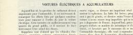 1925 : Document, LA VOITURE ELECTRIQUE (4 Pages Illustrées) Camionnette, Autobus, Renault, Berliet, Lyon, Accumulateurs - Non Classificati