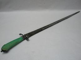 Exceptionnelle Ancienne ÉPÉE En Argent Massif, Lame En Acier Décor Gravé / Poinçons Du XVIIIe 100% D'origine - Knives/Swords
