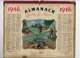 Avr18  81600   Calendrier PTT 1946 - Calendars