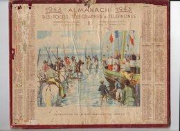 Avr18  81599   Calendrier PTT 1943  Département De L'orne - Calendars