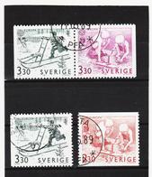 AUA775 SCHWEDEN 1989 Michl 1549/51 Gebraucht / Gestempelt ZÄHNUNG Und STEMPEL SIEHE ABBILDUNG - Schweden