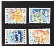 AUA778 SCHWEDEN 1989 Michl 1572/75 Gebraucht / Gestempelt ZÄHNUNG Und STEMPEL SIEHE ABBILDUNG - Schweden
