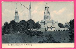 Das Bismarckdenkmal In Hamburg - Eglise - Animée - Série LUXUSDRUCK - 1910 - Allemagne