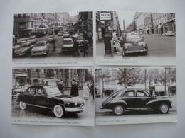 TAXIS Paris : Peugeot, Simca, Panhard - LOT De 4 CPM Editions Atlas - Détails  Sur Les Scans - Taxis & Cabs