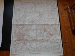 Kaart Dendermonde Grembergen Moerzeke Baasrode Sint-gillis Uitgave 1967  114cm Op 88cm - Topographical Maps