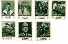 G. De Gaulle, Churchill,Roosevelt-Fujeira  1970-MI 424/30***MNH-Valeur 9 Euro - De Gaulle (General)
