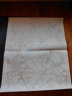 Kaart Dendermonde Grembergen Moerzeke Baasrode Zogge Sint-Gillis Uitgave 1977  114cm Op 88cm - Topographical Maps