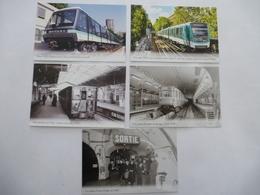 RATP : METRO  PARIS Entre 1933 Et 2008 - LOT 5 CPM Editions Atlas - Détails Voir Scans - Subway