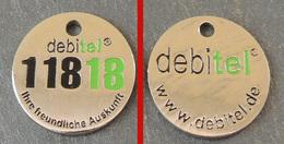 Jeton De Caddie Métal - DEBITEL 11818 - ALLEMAGNE - Double Face - Trolley Token/Shopping Trolley Chip