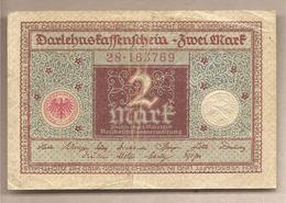 Germania Ufficio Del Debito Nazionale - Banconota Circolata Da 2 Marchi P-60 - 1920 - [ 3] 1918-1933: Weimarrepubliek