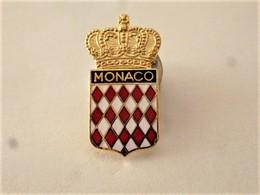 PINS VILLE MONACO  BLASON COURONNE / 33NAT - Steden