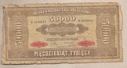 Polonia - Banconota Circolata Da 50.000 Marka P-33 - 1922 - Polonia