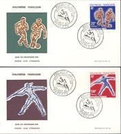 Polynésie Française 1er Jour D'émission Jeux Du Pacifique Sud 29 8 1963 Papeete Football Javelot YT 22 Et 23 - Collections, Lots & Séries