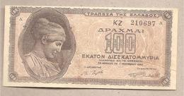 Grecia - Banconota Circolata Da 100.000.000.000 Dracme P-135a.1 - 1944 - Grecia