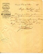 63.PUY DE DOME.CLERMONT FERRAND.FABRIQUE DE FRUITS CONFITS & CONFITURES.M.LIGNERAT. - Food