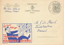 XX917 -- Entier Publibel 1354 STEKENE 1956 - Koloniale Loterij - Publibels
