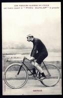 CPA ANCIENNE FRANCE DÉBUT XX°- CYCLISME ET PUB DUNLOP- LES VIELLES GLOIRES HOMMES : MEDINGER - COSTUME ET VELO- - Cyclisme