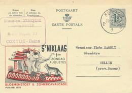 XX919 -- Entier Publibel 1570 KOKSIJDE 1958 - St Niklaas Bloemenstoet § Cavalcade - Entiers Postaux