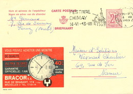 XX921 -- Entier Publibel 2272 FN Bruxelles 1969 - Bracor , Montre Au Prix De Gros - Entiers Postaux