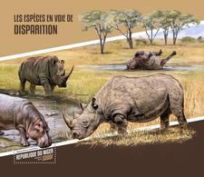 Niger. 2018 Endangered Species. (125b) - Rhinozerosse