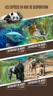 Niger. 2018 Endangered Species. (125a) - Gorilles