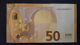 50 EURO S014C2 Italy DRAGHI Serie SD Ch 18 Perfect UNC - EURO