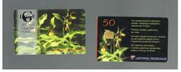 LITUANIA (LITHUANIA) -  1999 FLOWERS: ORCHID CYPRIPEDIUM CALCEOLUS   - USED - RIF. 10701 - Lituania