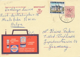 XX925 -- Entier Publibel 2254V MEULEBEKE 1968 -  Piles Batterijen Berec - Stamped Stationery