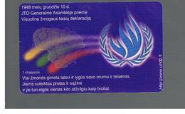 LITUANIA (LITHUANIA) -  1998 ONU, ALL PEOPLE FREE - USED - RIF. 10709 - Lituania