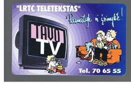 LITUANIA (LITHUANIA) -  1998 YOUR TV, CARTOON - USED - RIF. 10715 - Lituania