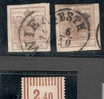 Austria1850:Michel4x(2)with Wide Margins With WIEN And PESTH Cancellations - 1850-1918 Imperium