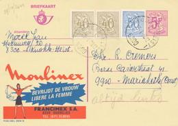 XX928 -- Entier Publibel 2674N + TP Lions Héraldiques KNOKKE HEIST 1978 - Moulines - Publibels
