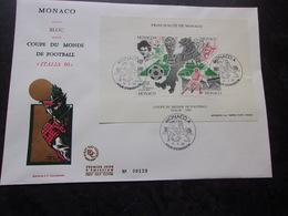 MONACO (1990) Bloc Coupe Du Monde De Football ITALIA 90 - Monaco