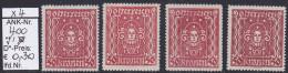 """1922/24 - FM/DM """"Frauenkopf (Kunst)""""  -  50 Kronen Bräunl.rot - **  Postfrisch  -  Siehe Scan  (400 01-02) - Ungebraucht"""